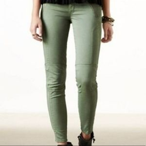 American Eagle Green Super Stretch Ankle Jeggings
